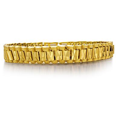 בגדי ריקוד גברים שרשרת וצמידים - ציפוי זהב אופנתי צמידים זהב עבור Party / מתנה