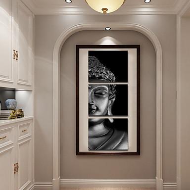 הדפסי בד מגולגל מודרני, שלושה פנלים בַּד ריבוע דפוס דקור קיר קישוט הבית