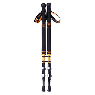 3 Bölümler Yürüyüş Batonu / Trekking Batonları / Nordik Yürüyüş Batonları 135cm (53 inç) Antikayma / Ayarlanabilir Uzunluk / Antişok Sistemi Tungsten Karbon Fiber Yürüyüş / Cross-Country / Backcountry