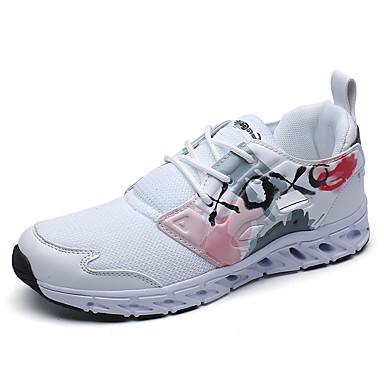 בגדי ריקוד נשים נעליים רשת / טול / PU אביב / קיץ נוחות נעלי ספורט שטוח בוהן סגורה הדפס חיות שחור / כחול כהה / אדום