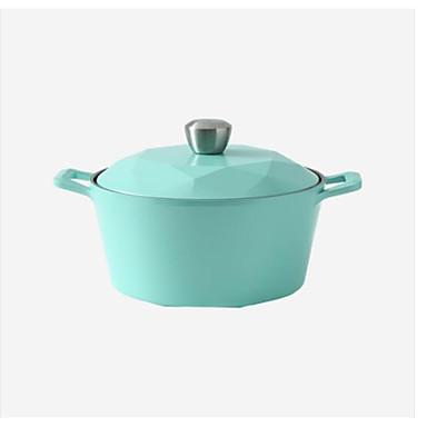 סגסוגת אלומניום פלדת אל חלד יצוק מברזל פלדת אל חלד עגול מחבת Cookware, 32.5*24.8*18