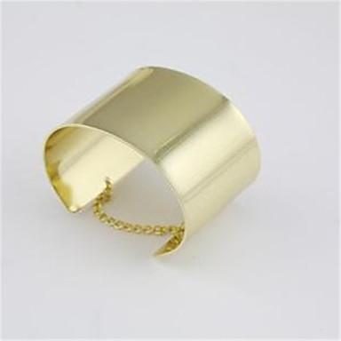 בגדי ריקוד נשים צמידי חפתים - אופנתי צמידים זהב עבור יומי / ליציאה