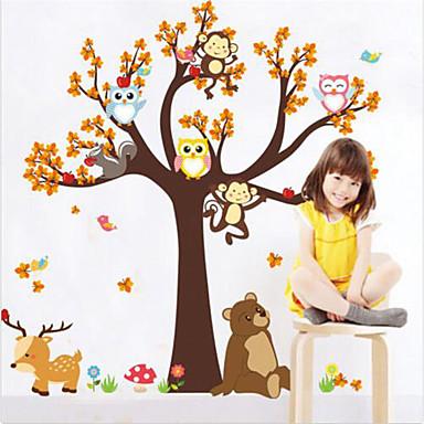Animaux Stickers muraux Autocollants avion Autocollants muraux décoratifs, Vinyle Décoration d'intérieur Calque Mural Mur