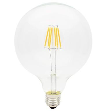 1pc 6W 560lm E26 / E27 נורת להט לד G125 6 LED חרוזים COB דקורטיבי אור LED לבן חם 220-240V