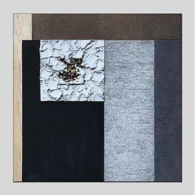 ציור שמן צבוע-Hang מצויר ביד - מופשט מודרני בַּד / בד מתוח