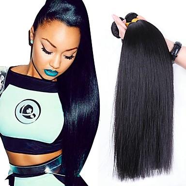 3 חבילות שיער ברזיאלי ישר שיער אנושי טווה שיער אדם שוזרת שיער אנושי תוספות שיער אדם