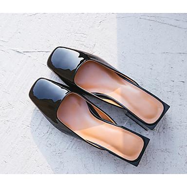 בגדי ריקוד נשים נעליים עור אביב / סתיו נוחות סוגי כפכפים עקב נמוך שקד / חום בהיר / בורדו