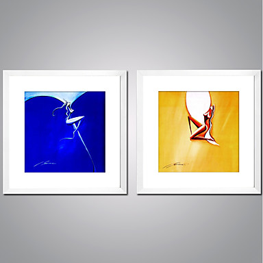 Stretched Canvas Prints Comtemporary, Two Panels Canvas Square Print ...