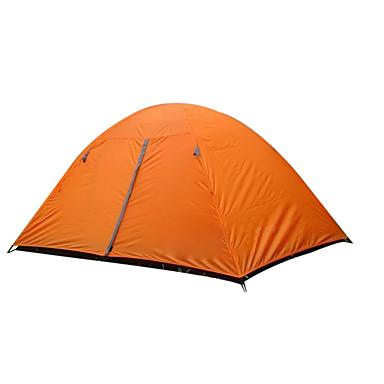 2 Personen Zelt Doppel Camping Zelt Außen Falt-Zelt warm halten Feuchtigkeitsundurchlässig Gut belüftet Wasserdicht Windundurchlässig
