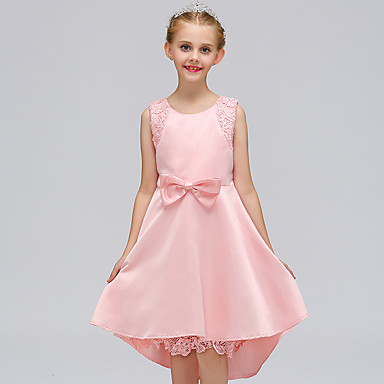 שמלה כותנה קיץ ללא שרוולים אחיד הילדה של חמוד יום יומי פול ורוד מסמיק