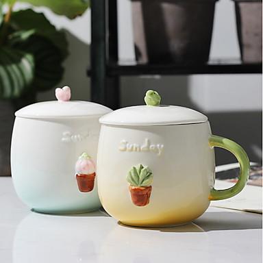 drinkware חַרְסִינָה כוסות נסיעה / גביע & צלחת בידוד 2 pcs