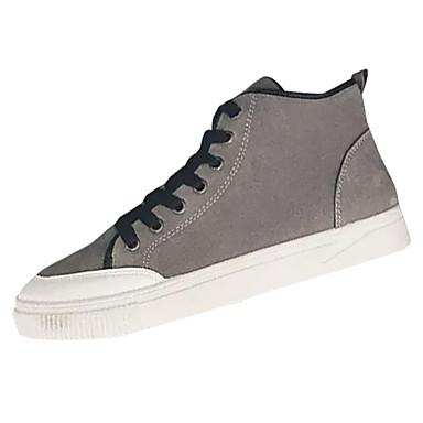 男性用 靴 ヌバックレザー 春 秋 コンフォートシューズ スニーカー のために カジュアル ブラック グレー イエロー