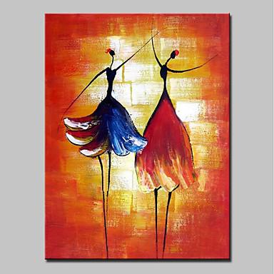 mintura ® צבוע ביד ציורי שמן בלרינה מופשטים על בד ציור קיר מודרני אמנות עבור קישוט הבית מוכן לתלות