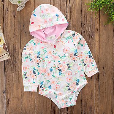 חולצה כותנה פוליאסטר אביב קיץ יומי ספורט פרחוני בנות חמוד יום יומי ורוד מסמיק