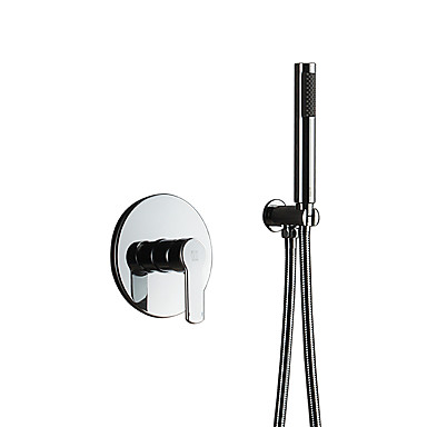 סגנון מינימליסטי שפורפרת יד למקלחת סטים לאמבטיה מקלחת גשם כרום מאפיין - שפורפרת יד כלולה מקלחת, ראש המקלחת