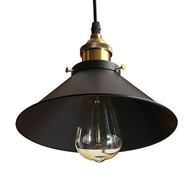 luces colgantes vintage loft negro metal sombra comedor luces colgantes barra de la cocina accesorio de la luz