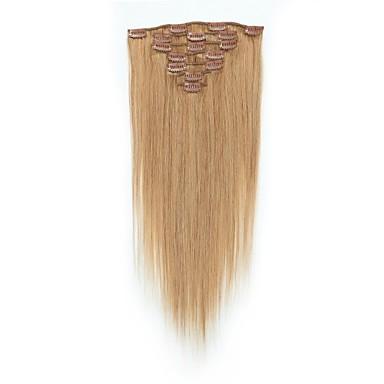 Con Clip Estensioni Dei Capelli Umani 7pcs - Confezione 70g - Pack Marrone Pastello - Strawberry Blonde Brown Medio - Bleach Blonde #06554301 Così Efficacemente Come Una Fata