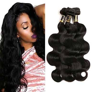 3 חבילות שיער ברזיאלי Body Wave שיער בתולי טווה שיער אדם שוזרת שיער אנושי תוספות שיער אדם