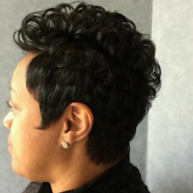שיער ללא שיער שיער אנושי מתולתל Jerry curl פאה אפרו-אמריקאית הוכן באמצעות מכונה פאה