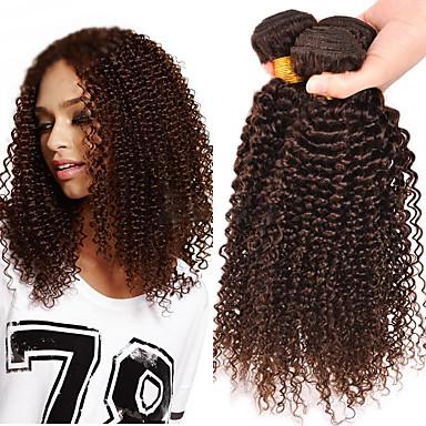 Włosy brazylijskie Kinky Curly Klasyczny Ludzkie włosy wyplata 3szt Wysoka jakość Człowieka splotów włosów Codzienny