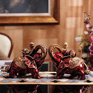 2pcs שרף סגנון מינימליסטי ל קישוט הבית, אספנות מתנות