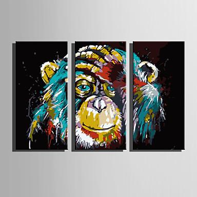 Painettu Valssatut kangasjulisteet Moderni 3 paneeli Art Prints