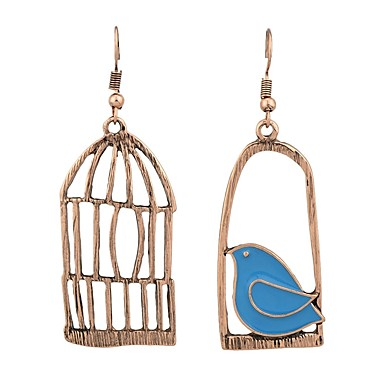 levne Dámské šperky-Dámské Neshoda Visací náušnice Náušnice Ptáček Klícka dámy Šperky Zlatá / Stříbrná Pro Denní Rande