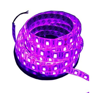 5 M סרטי תאורת LED גמישים 300 נוריות 5M LED ברצועת אור ורוד ניתן לחיתוך / עמיד במים / דקורטיבי 12 V 1pc / מתאים לרכבים / נדבק לבד / IP44