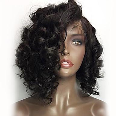 abordables Perruques Naturelles Dentelle-Perruque Cheveux Naturel humain Cheveux Brésiliens 360 Frontale Ondulation Lâche 180% avec des cheveux de bébé Ligne de Cheveux Naturelle Perruque afro-américaine 100 % Tissée Main Noir Naturel Femme