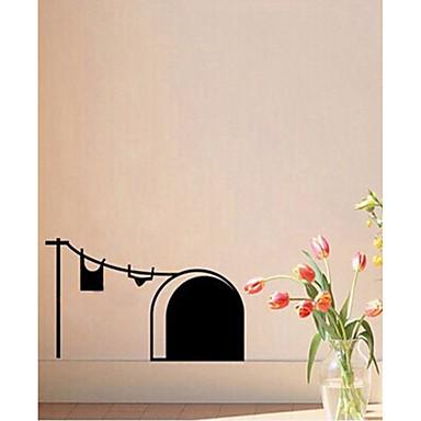 חיות צורות מדבקות קיר מדבקות קיר מטוס מדבקות קיר תלת מימד מדבקות קיר דקורטיביות, נייר ויניל קישוט הבית מדבקות קיר קיר חלון