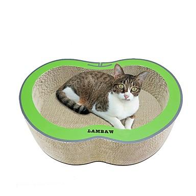 חתולים מיטות אומנות גירוד נייר ויצירה בנייר חיות מחמד ליינרים אחיד יצירתי מאמן מקל מתחים עמיד אדום ירוק עבור חיות מחמד
