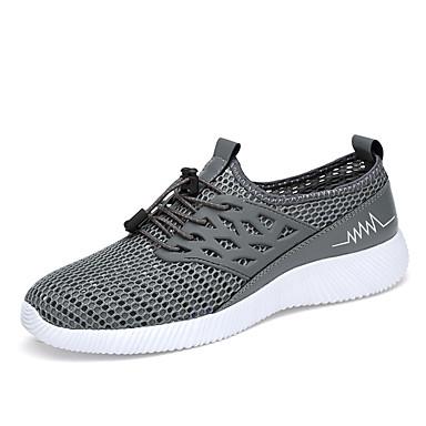 Men's PU(Polyurethane) Athletic Spring / Fall Comfort Athletic PU(Polyurethane) Shoes Walking Shoes Black / Gray / Blue 05f022