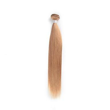 billige Parykker af ægte menneskerhår-1 Bundle Brasiliansk hår Lige 8A Menneskehår Menneskehår, Bølget Nuance 10-26 inch Blond Menneskehår Vævninger Naturlig Bedste kvalitet Ny ankomst Menneskehår Extensions / Ret