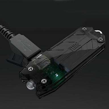billige Lommelykter & campinglykter-Nitecore T Series Nøkkelringslommelykter 45 lm LED emittere 2 lys tilstand med batteri Vannavvisende Nøkkelring Støvtett Camping / Vandring / Grotte Udforskning Mineral Grønn Grønn Blå