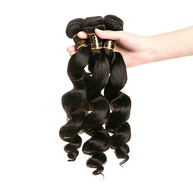 4 חבילות שיער ברזיאלי גלי משוחרר שיער בתולי טווה שיער אדם שוזרת שיער אנושי תוספות שיער אדם