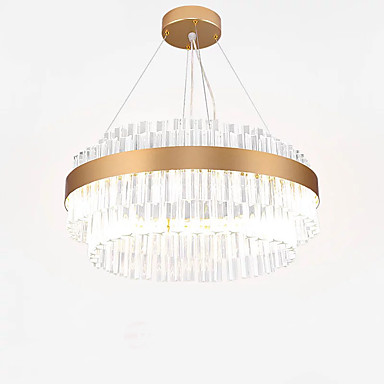 QIHengZhaoMing Żyrandol Światło rozproszone Galwanizowany Kryształ Kryształ, Ochrona oczu 110-120V / 220-240V Ciepła biel Źródło światła LED w zestawie / LED zintegrowany
