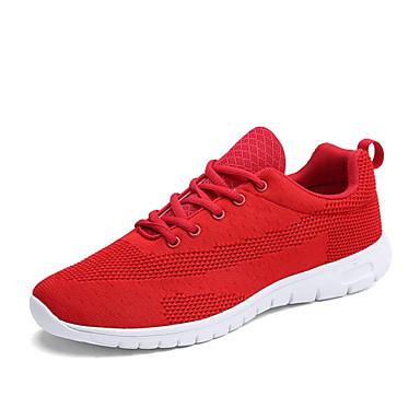 Course Confort Eté Pied Talon Gris d'Athlétisme Tricot Plat Rouge Chaussures Noir Chaussures 06600587 Femme Printemps à wqxFU044