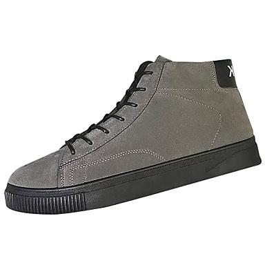 בגדי ריקוד גברים עור נובוק חורף נוחות נעלי ספורט שחור / אפור / חאקי