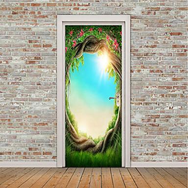 Naklejki na drzwi - Naklejki ścienne lotnicze / Naklejki ścienne 3D Martwa natura / Kwiatowy / Roślinny Kuchnia / Pokój dla dzieci / Możliwość zmiany miejsca