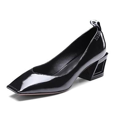 Femme Chaussures Noir carré Bout Confort Jaune Gris Printemps à Chaussures 06601302 Bottier Talon clair Cuir Automne Talons gqXRxgr7