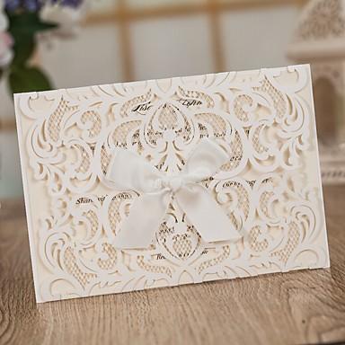 Wrap & kieszonkowy Zaproszenia ślubne Zaproszenia Klasyczny styl Wytłaczany papier Wytłaczany wzór