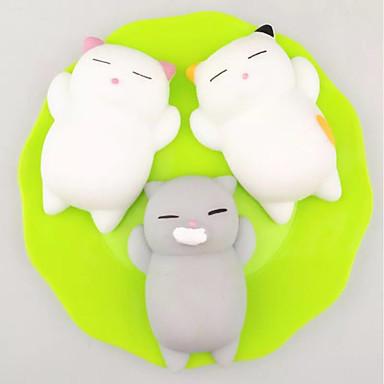 LT.Squishies צעצוע מעיכה חתול / חיה חיה הפגת מתחים וחרדה / Office צעצועים במשרד / צעצועים לחץ לחץ דם 3 pcs מבוגרים מתנות