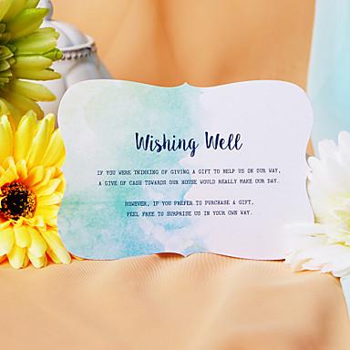 Pojedyncza Kartka Zaproszenia ślubne 50-opakowanie / 20-opakowanie - Zestawy zaproszeń Styl artystyczny Perłowy papier