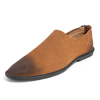 Herrn Schuhe PU Sommer Komfort Loafers & Slip-Ons für Normal Schwarz Braun
