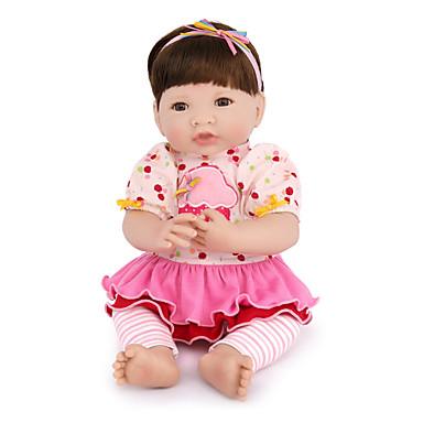 preiswerte Puppen-NPK DOLL Lebensechte Puppe Baby Mädchen 14 Zoll Silikon Vinyl - Neugeborenes lebensecht Niedlich Handgefertigt Kindersicherung Non Toxic Kinder Unisex / Mädchen Spielzeuge Geschenk / Floppy Head