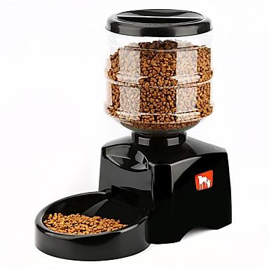 5.5 L L כלבים / חתולים כלי הזנה חיות מחמד & קערות האכלה אוטומטי / הקלטת קול / קערות וצלחות שחור