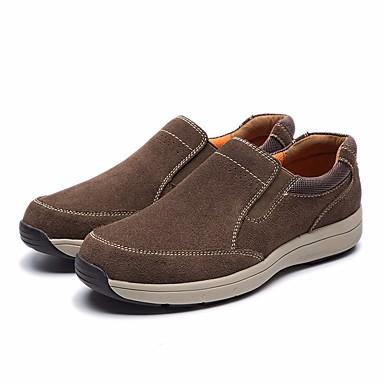 Męskie Komfortowe buty Skóra bydlęca Wiosna / Jesień Mokasyny i buty wsuwane Szary / Ciemnobrązowy