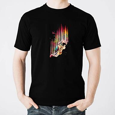 T-shirty LED Lśnienie Czysta bawełna DOPROWADZIŁO / Na co dzień 2 baterie AAA