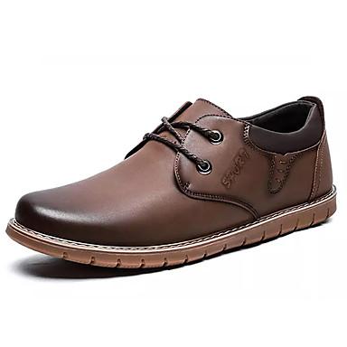 בגדי ריקוד גברים PU אביב / סתיו נוחות נעלי ספורט שחור / חום / חאקי