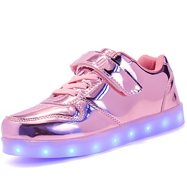 economico Scarpe da bambino-Da ragazzo / Da ragazza PU (Poliuretano) Sneakers Ragazzini (4-7 anni) / Big Kids (7 anni +) Comoda / Scarpe luminose Footing Lacci / Chiusura a strappo o bottoncino / LED Argento / Blu / Rosa